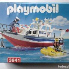 Playmobil: BARCO DE RESCATE PLAYMOBIL 3941 CON LANCHA. Lote 102397459