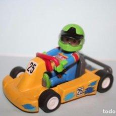 Playmobil: PLAYMOBIL COCHE CARRERAS PILOTO KARTING PIEZAS. Lote 103056715