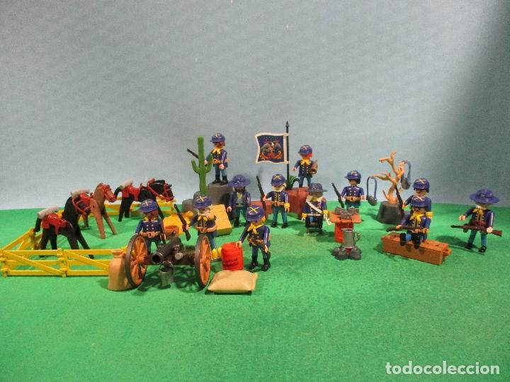 PLAYMOBIL-OESTE-SOLDADOS NORDISTAS-FUERTE-SUDISTAS-WESTERN (Juguetes - Playmobil)