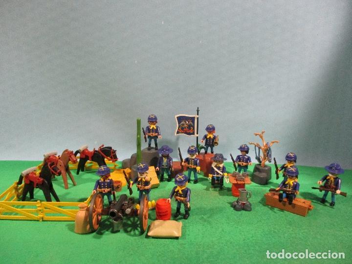 Playmobil: PLAYMOBIL-OESTE-SOLDADOS NORDISTAS-FUERTE-SUDISTAS-WESTERN - Foto 2 - 103539271