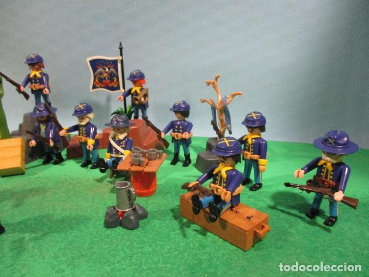 Playmobil: PLAYMOBIL-OESTE-SOLDADOS NORDISTAS-FUERTE-SUDISTAS-WESTERN - Foto 3 - 103539271