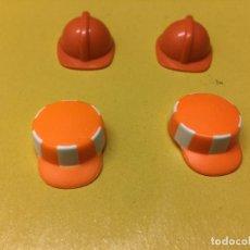 Playmobil: PLAYMOBIL LOTE CASCO ROJO NARANJA OBRA LIMPIEZA PRIMERA ÉPOCA . Lote 103697635