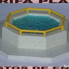 Playmobil: ESTANQUE PARA PATOS O ZONA DONDE BEBER AGUA ANIMALES DE ZOO, PARQUE GRANJA .... DE PLAYMOBIL USAD. Lote 103782247