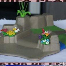 Playmobil: TROZO TERRENO PLANTAS JARDIN ZOO PUENTE RIO DE PLAYMOBIL USADO TAL Y COMO SE VE. Lote 103784839