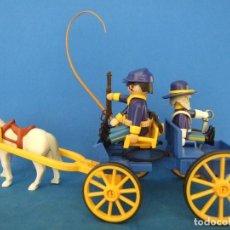 Playmobil: PLAYMOBIL CARRETA CON OFICIAL DEL NORTE Y 2 SOLDADOS, YANQUIS. Lote 110063371