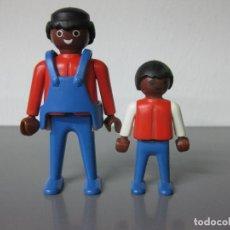 Playmobil: PLAYMOBIL PADRE E HIJO NEGRITOS NEGRITO NEGRO. Lote 110364314
