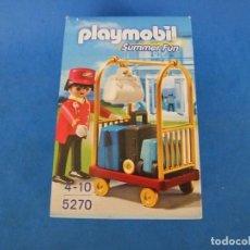 Playmobil: PLAYMOBIL BOTONES CON CARRO PORTAMALETAS REF 5270. Lote 104484919