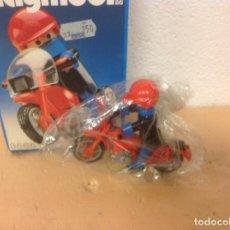 Playmobil: MOTORISTA PLAYMOBIL EN CAJA 3565 - MOTO PLAYMOBIL CAJA GEOBRA 1984 - FIGURA PLAY MOBIL MOTO. Lote 105198327