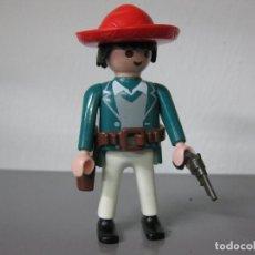 Playmobil: PLAYMOBIL VAQUERO MEXICANO OESTE CON CARTUCHERA Y PISTOLA. Lote 105685595