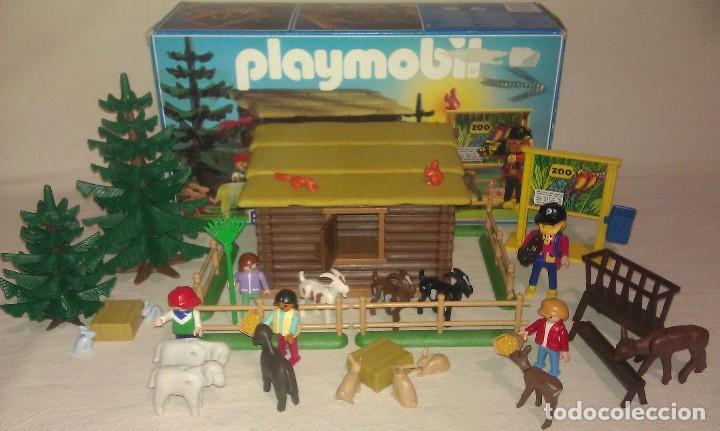 ZOO SILVESTRE CON CABAÑA DE CAMPO DE PLAYMOBIL REF. 3638 PRÁCTICAMENTE COMPLETO EN SU CAJA ORIGINAL (Juguetes - Playmobil)
