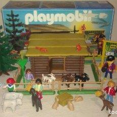 Playmobil: ZOO SILVESTRE CON CABAÑA DE CAMPO DE PLAYMOBIL REF. 3638 PRÁCTICAMENTE COMPLETO EN SU CAJA ORIGINAL. Lote 105698667