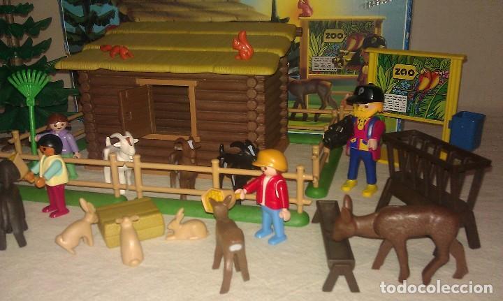 Playmobil: ZOO SILVESTRE CON CABAÑA DE CAMPO DE PLAYMOBIL REF. 3638 PRÁCTICAMENTE COMPLETO EN SU CAJA ORIGINAL - Foto 2 - 105698667