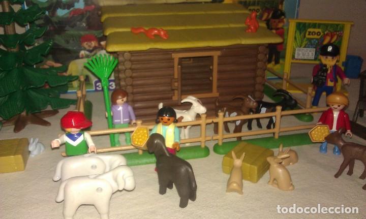Playmobil: ZOO SILVESTRE CON CABAÑA DE CAMPO DE PLAYMOBIL REF. 3638 PRÁCTICAMENTE COMPLETO EN SU CAJA ORIGINAL - Foto 3 - 105698667