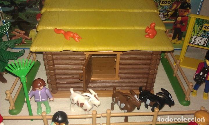 Playmobil: ZOO SILVESTRE CON CABAÑA DE CAMPO DE PLAYMOBIL REF. 3638 PRÁCTICAMENTE COMPLETO EN SU CAJA ORIGINAL - Foto 4 - 105698667