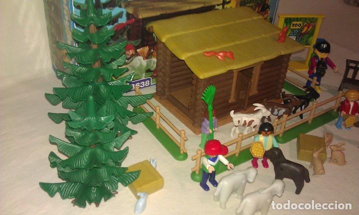 Playmobil: ZOO SILVESTRE CON CABAÑA DE CAMPO DE PLAYMOBIL REF. 3638 PRÁCTICAMENTE COMPLETO EN SU CAJA ORIGINAL - Foto 5 - 105698667