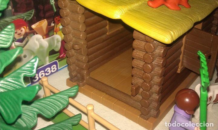 Playmobil: ZOO SILVESTRE CON CABAÑA DE CAMPO DE PLAYMOBIL REF. 3638 PRÁCTICAMENTE COMPLETO EN SU CAJA ORIGINAL - Foto 6 - 105698667