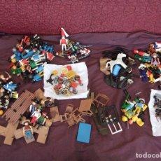 Playmobil: LOTAZO DE PLAYMOBIL. Y ACESORIOS , PIEZAS, CABALLOS. Lote 106166011