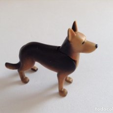 Playmobil: PLAYMOBIL PERRO PASTOR ALEMAN OESTE WESTERN ANIMALES ZOO POLICÍA PIEZAS. Lote 140786117