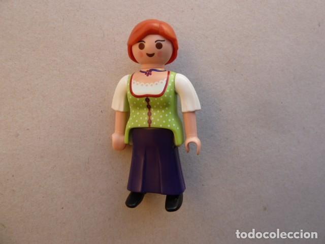 MUJER GRANJERA, MEDIEVAL. PLAYMOBIL (Juguetes - Playmobil)