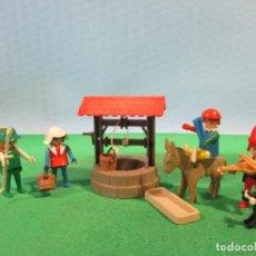 Playmobil: PLAYMOBIL-MEDIEVAL,POZO,DAMA,CAMPESINO,BURRO-BELEN,CASTILLO-1ª EPOCA-(MANOS FIJAS). Lote 107979283