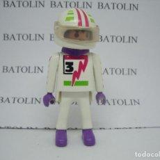 Playmobil: PLAYMOBIL FIGURAS PILOTO COCHES MOTOS CIUDAD. Lote 128086640