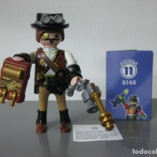 Playmobil: PLAYMOBIL SERIE 11 AZUL SOBRE SORPRESA STEAM PUNK VIAJERO TIEMPO REF 9146 SOBRES. Lote 171807870