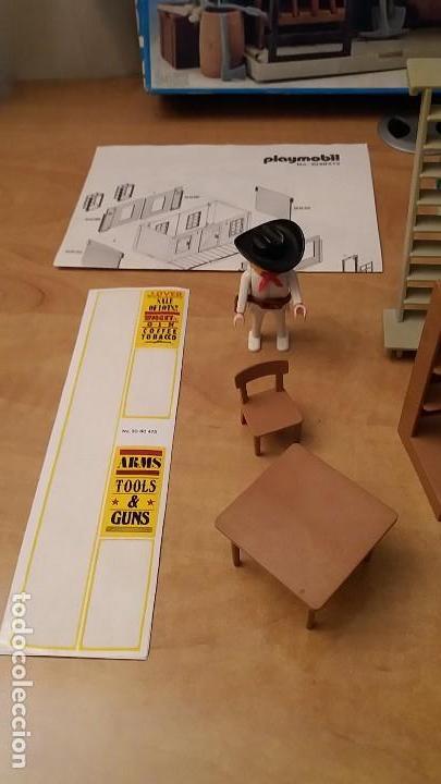 Playmobil: Playmobil 3462 (V1. Outline-Nr.). DRUG-STORE. Oeste (western). Caja e instrucciones. Muy completo - Foto 3 - 109050067