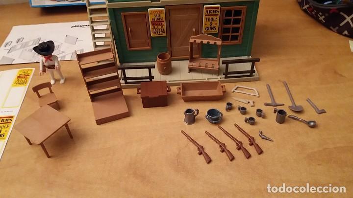 Playmobil: Playmobil 3462 (V1. Outline-Nr.). DRUG-STORE. Oeste (western). Caja e instrucciones. Muy completo - Foto 4 - 109050067