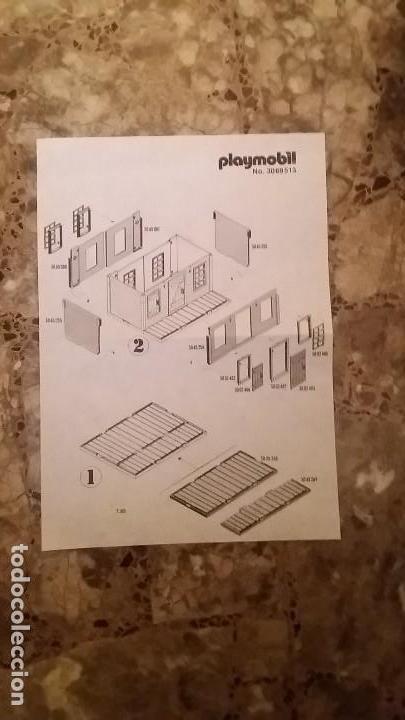 Playmobil: Playmobil 3462 (V1. Outline-Nr.). DRUG-STORE. Oeste (western). Caja e instrucciones. Muy completo - Foto 5 - 109050067