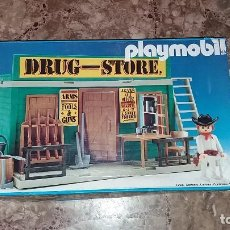 Playmobil: PLAYMOBIL 3462 (V1. OUTLINE-NR.). DRUG-STORE. OESTE (WESTERN). CAJA E INSTRUCCIONES. MUY COMPLETO. Lote 109050067