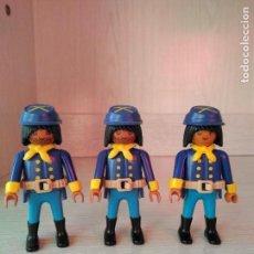 Playmobil: PLAYMOBIL, LOTE, CUSTOM, SOLDADOS, OESTE, WESTERN, NORDISTAS, SUDISTAS, RASTREADORES, INDIOS. Lote 110046896