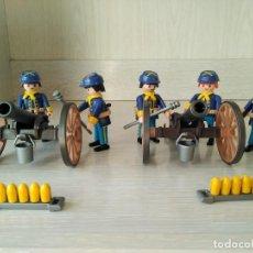Playmobil: PLAYMOBIL, LOTE, CUSTOM, SOLDADOS, ARTILLERIA, OESTE, WESTERN, NORDISTAS, SUDISTAS, CAÑON, BALAS.. Lote 110046963