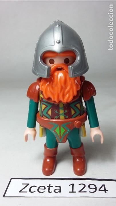 PLAYMOBIL FIGURA ENANO GUERRERO MEDIEVAL (ZCETA) (Juguetes - Playmobil)