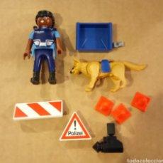 Playmobil: PLAYMOBIL POLICÍA CON PERRO EN BOLSA CERRADA. Lote 109727154