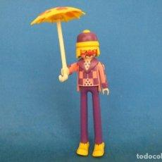 Playmobil: PLAYMOBIL PAYASO ZANCUDO CON SOMBRILLA. Lote 110078983