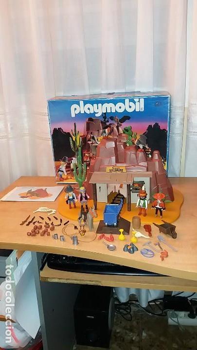 Playmobil: Playmobil 3802. MINA DE ORO MC LAREN'S. Completo con caja e instrucciones. Oeste (Western) - Foto 3 - 110259127