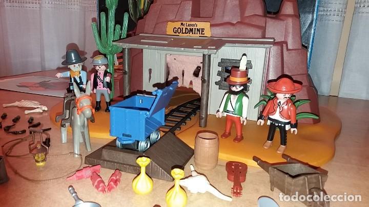 Playmobil: Playmobil 3802. MINA DE ORO MC LAREN'S. Completo con caja e instrucciones. Oeste (Western) - Foto 5 - 110259127