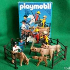 Playmobil: PLAYMOBIL 3484 RANCHEROS COWBOYS OESTE VINTAGE VAQUEROS. Lote 111095151