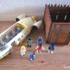 Playmobil: LOTE PLAYMOBIL PARTE AVIÓN AERO LINE FUERTE OESTE HEADQUARTERS CABALLERÍA 6 SEIS MUÑECOS PIEZA ROJA. Lote 111231371