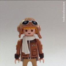 Playmobil: PLAYMOBIL FIGURA PILOTO AVIADOR CON BUFANDA AVION GUERRA MUNDIAL AVIONES VARIOS PIEZAS. Lote 194291261