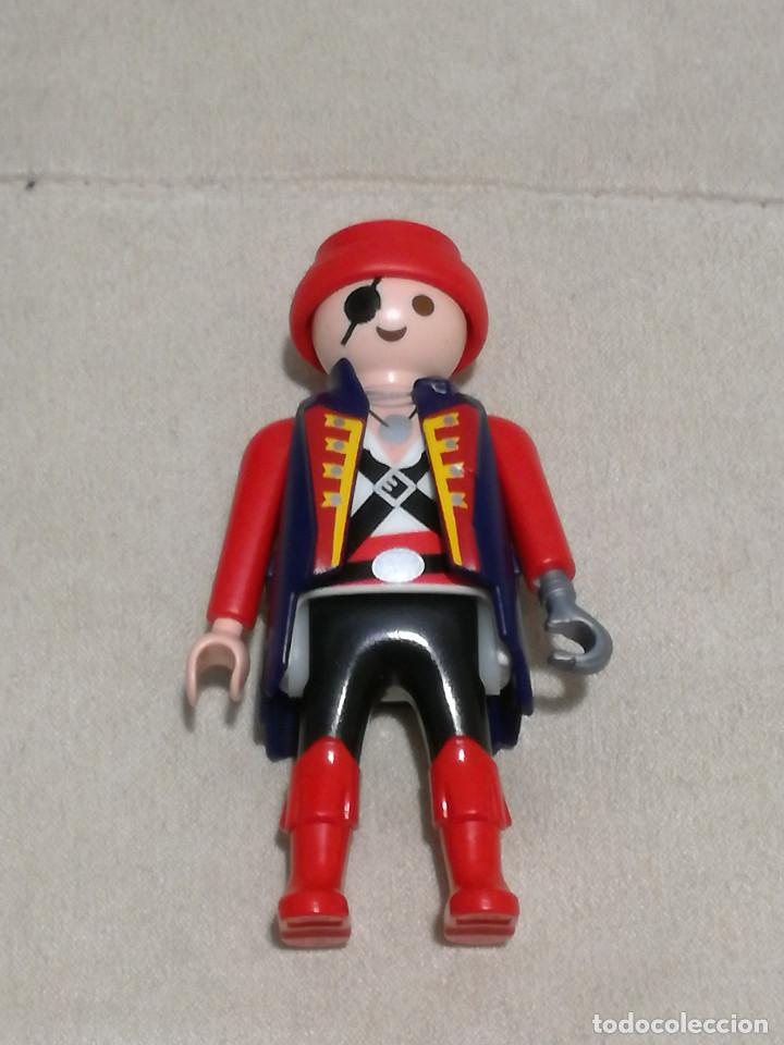 playmobil figura pirata garfio abrigo azul marino piratas medieval vikingos soldados ingleses segunda mano