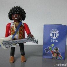 Playmobil: PLAYMOBIL SERIE 11 AZUL SOBRE SORPRESA GUITARRISTA MUSICO GUITARRA REF 9146 SOBRES. Lote 131024204