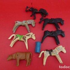 Playmobil: ANIMALES DE PLAYMOBIL,,CABALLOS DISTINTAS EPOCAS Y TERNERO.... Lote 111850159