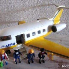 Playmobil: GRAN AVIÓN AERO LINE PLAYMOBIL CON PILOTOS TODAS LAS RUEDAS ALERONES MUÑECOS AEROPUERTO AEROLINE. Lote 111946587