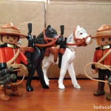 Playmobil: PLAYMOBIL, LOTE, CUSTOM, POLICIA CANADIENSE, CABALLERIA, SOLDADOS, OESTE, WESTERN.. Lote 112030947