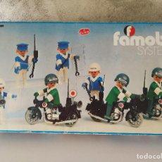 Playmobil: CAJA FAMOBIL REFERENCIA 3401 POLICÍA MOTOS PLAYMOBIL . Lote 112050631