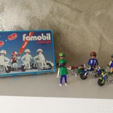 Playmobil: MOTORISTAS FAMOBIL COLOR 3616 EN CAJA. Lote 112625535