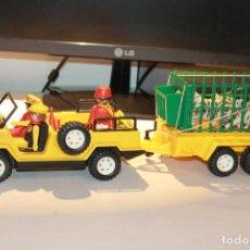 Playmobil: JEEP Y ARRASTRE CON ANIMALES Y PERSONAJES DE SAFARI DE PLAYMOBIL 3433. CAJA. INFORMACIÓN Y FOTOS.. Lote 113017731