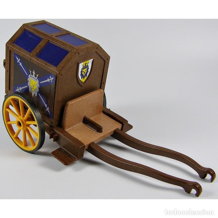 Playmobil carro carreta caballeros león medieva - Vendido