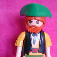 Playmobil: FIGURA PLAYMOBIL PIRATA PELIRROJO SOMBRERO VERDE. Lote 114623171